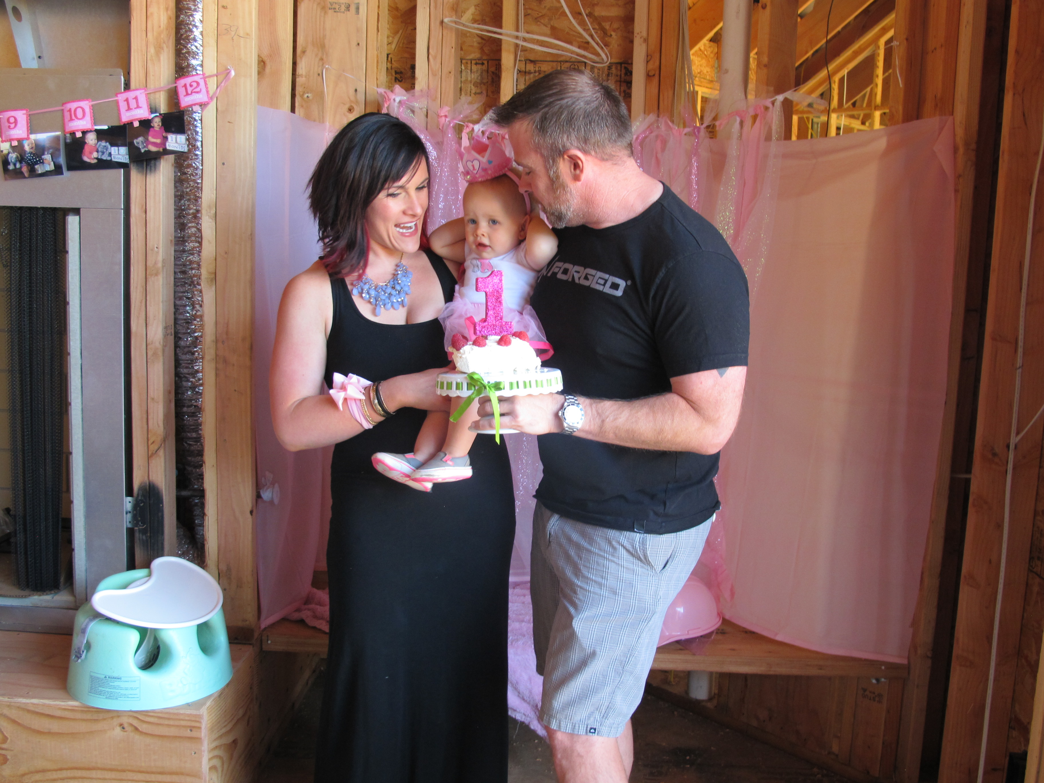 Anlon Construction - Design, Build and Remodel - Us Celebrating Our Baby's 1st Birthday