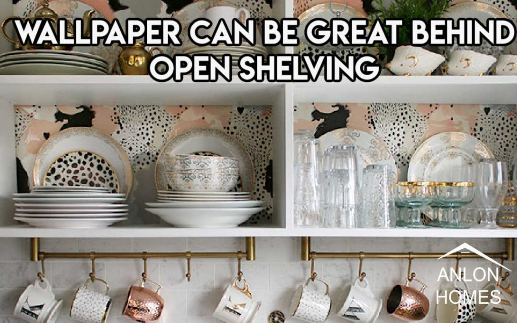 wallpaper can add a perfect pop of color to a kitchen