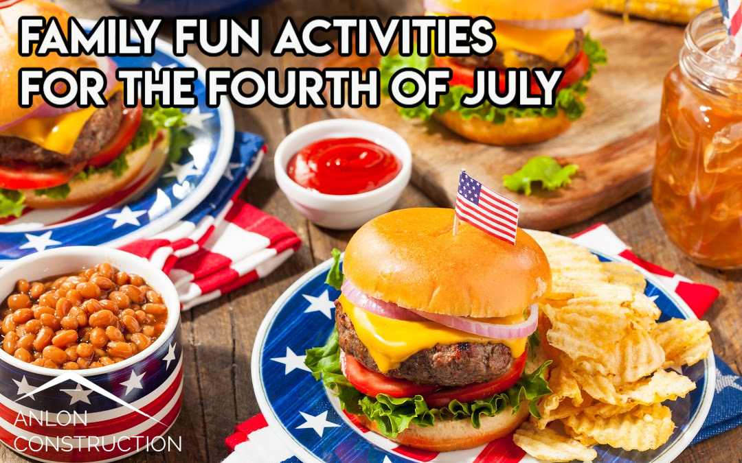 foto of fourth of july buffet with hamburgers with all the fixings